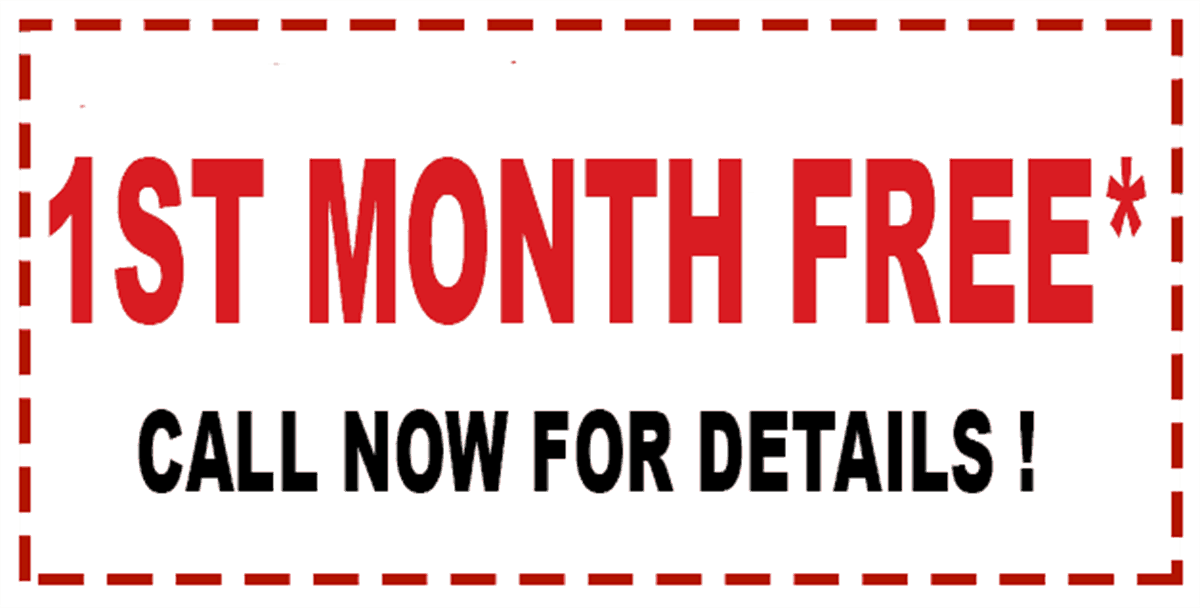 1st month free coupon